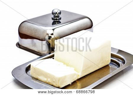 Butterdish With Butter.