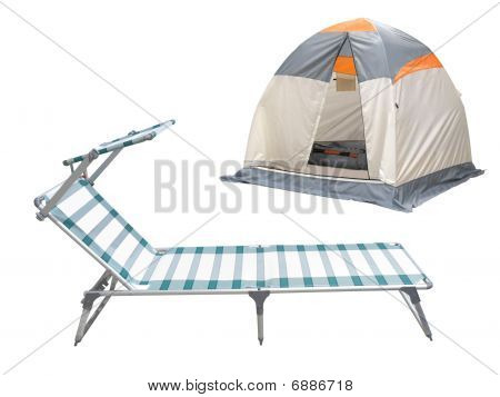 Tent And Camp Bed
