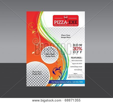 Abstract Pizza Store Flyer