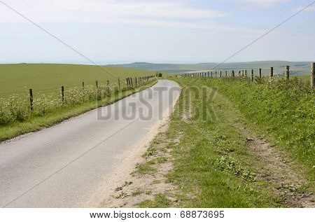Country Lane On South Downs. Sussex. England