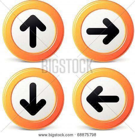 Vector Orange Arrows Icons