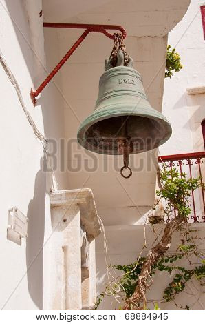 Bell In The Monastery Of Panagia Tourliani