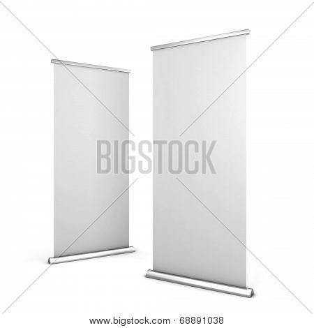Two Roll Up Banners