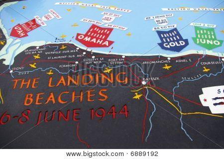 D-day Beach Map