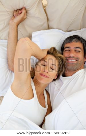 Beautiful Couple Waking Up
