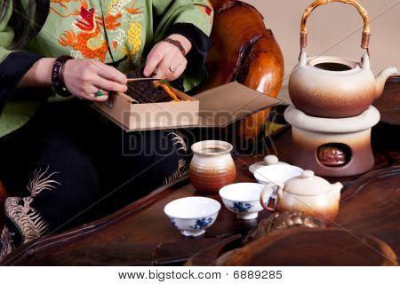 Making A Pot Of Tea