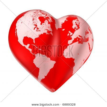 World love heart