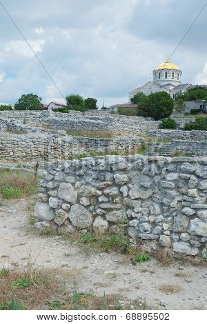 the image of a Ruins of Hersones, ancient greece settlement on Crimea