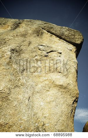 Rock formation in La Pedriza Natural Park, Madrid, Spain,