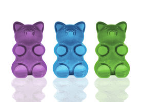 picture of gummy bear  - Three darling gummy bears in an updated color palette - JPG