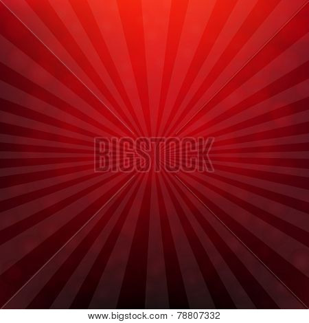 Red Christmas Poster With Bokeh With Gradient Mesh, Vector Illustration