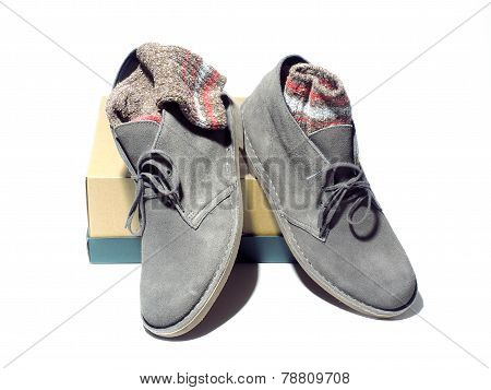 Desert Style Boots With Ragg Socks