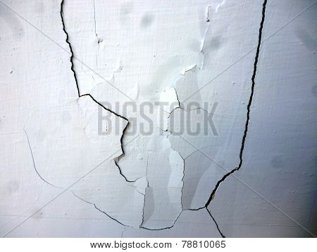 Crack on a wall
