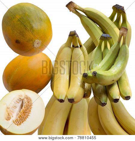 Bananas And Melons.