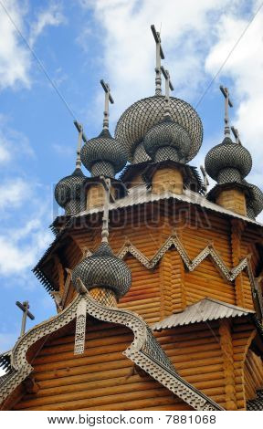 Domes Of Wooden Church