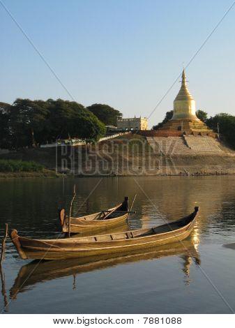 Boats And Pagoda