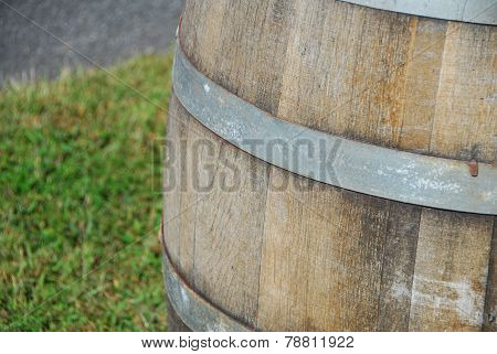 Wooden Oak Wine Barrel