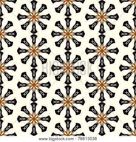 Brown Roots Or Tribal Pattern On Pastel Background