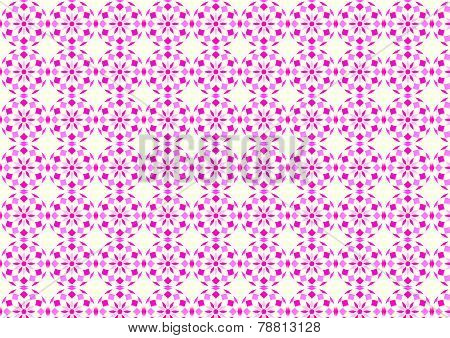 Red Abstract Flower Ball And Rhomboid Pattern On Pastel Background