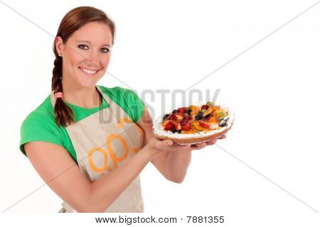 Woman Fruit Pie