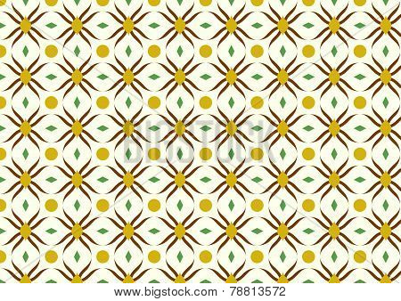 Brown Modern Flower And Rhomboid And Circle Pattern On Pastel Background