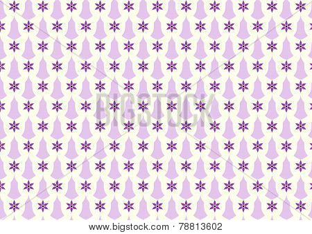 Purple Retro Flower And Candlestick Pattern On Pastel Background