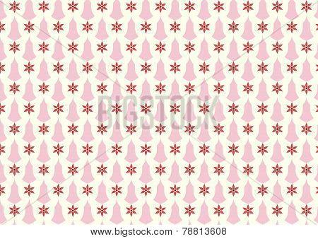 Orange Retro Flower And Candlestick Pattern On Pastel Background