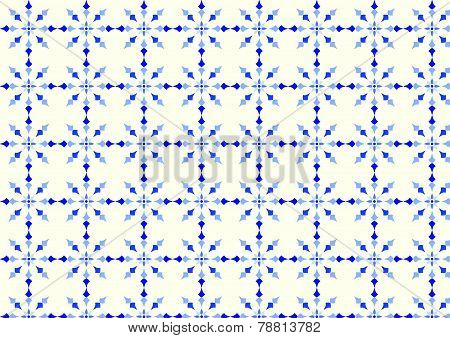 Blue Vintage Flower And Arrow Pattern On Pastel Background