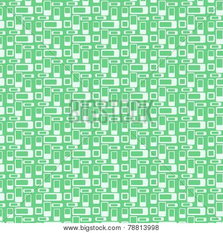 Green Rounded Corner Rectangle Pattern On Pastel Background