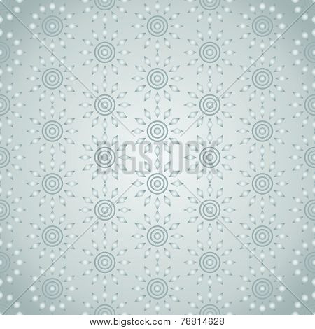 Silver Abstract Circle And Rhomboid Pattern On Pastel Background