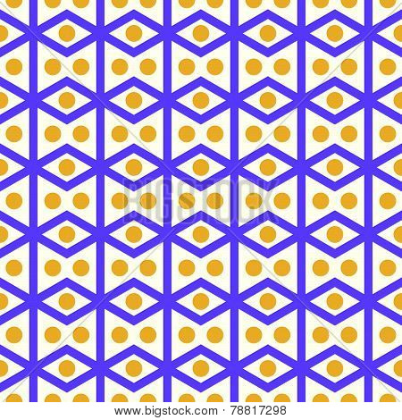 Purple Rhomboid And Circle Pattern On Pastel Color