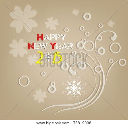 happy new year 2015 retro floral