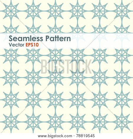 Gray Double Star And Circle Seamless Pattern On Pastel Color