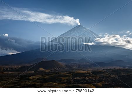 Klyuchevskaya Sopka (kliuchevskoi Volcano) On Kamchatka - Highest Active Volcano Of Eurasia