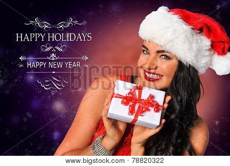 Sexy Santa's Helper postcard