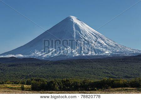 Kliuchevskoi Volcano (klyuchevskaya Sopka) On Kamchatka Peninsula