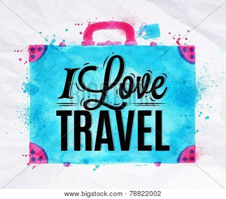 Suitcase watercolors travel