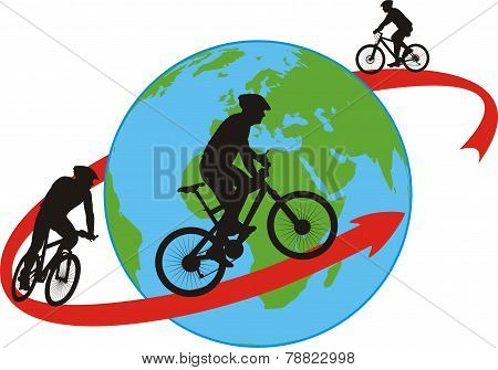 bike, cyclists - around the world