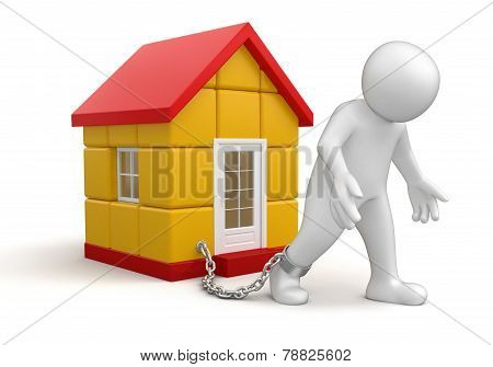 Man and House (clipping path included)