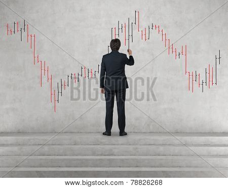 Man Drawing Stock Chart