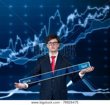 Businessman With Search Field