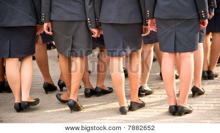 Policewoman On Parade