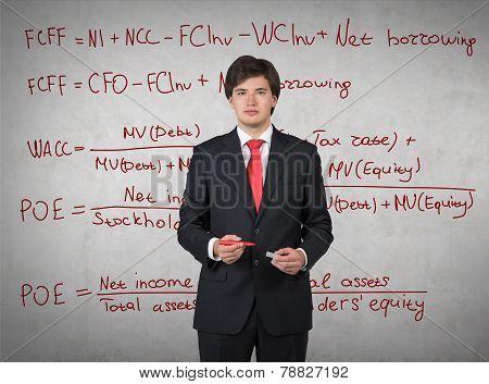 Drawing Mathematic Formulas On Wall