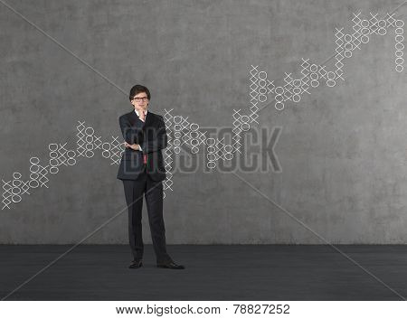 Businessman And Drawing Chart