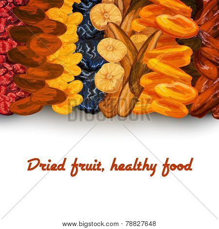 Dried fruit background print