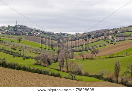 Rural Countryside With Hills