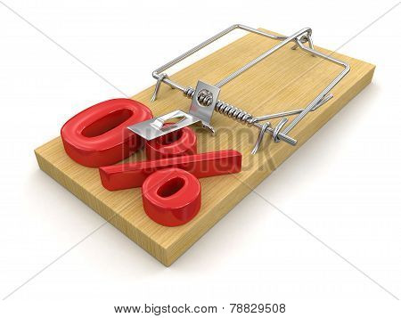 Mousetrap and Percentage Sign 0% (clipping path included)