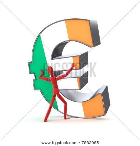 Keeping Up The Euro - Irish Flag