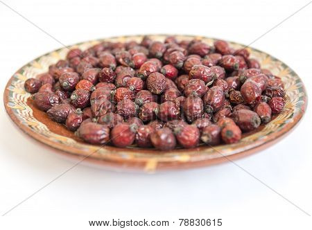 Dried Rose Hips Plate