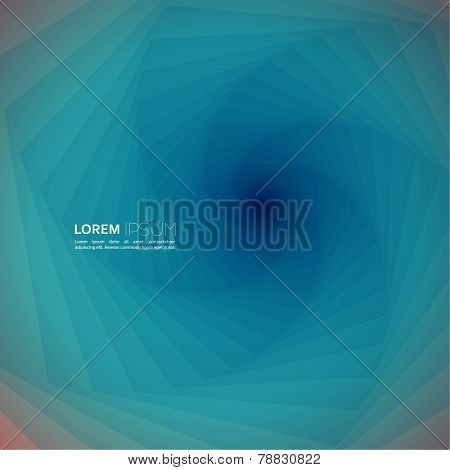 Techno vector abstract background with spiral and twist.